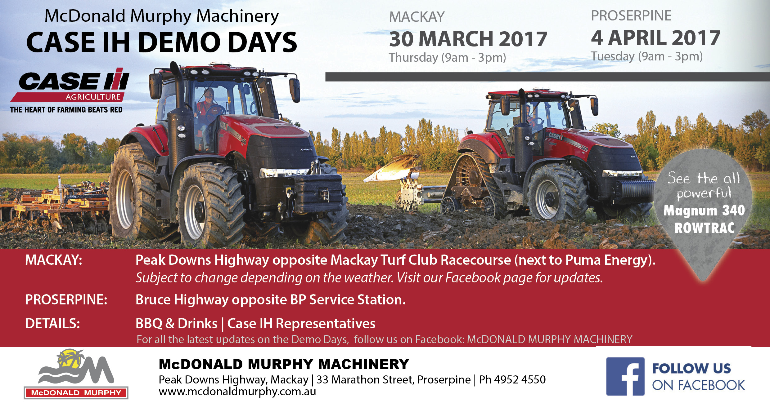 McDonald Murphy Machinery – Case IH Demo Days | Case IH Step UP! 2018